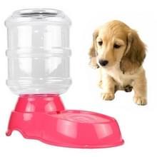 3.5 l huisdier zwaartekracht Waterer honden katten plastic Self-doseren zwaartekracht huisdier feeder (roze)