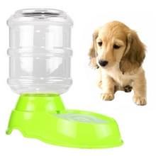 3.5 l huisdier zwaartekracht Waterer honden katten plastic Self-doseren zwaartekracht huisdier feeder (groen)