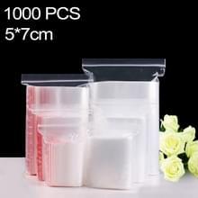 1000 stuks 5 x 7 cm PE zelf duidelijk Zip-Lock verpakking zak afdichten  Custom Printing en grootte zijn welkom