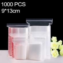 1000 stuks 9 x 13 cm PE zelf duidelijk Zip-Lock verpakking zak afdichten  Custom Printing en grootte zijn welkom