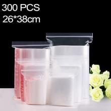 300 stuks 26 x 38 cm PE zelf duidelijk Zip-Lock verpakking zak afdichten  Custom Printing en grootte zijn welkom