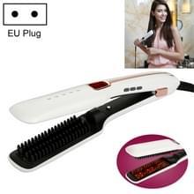 Multifunctionele stoom spray recht haar kam  infrarood negatieve Ion Hair Care tool  EU plug (wit)