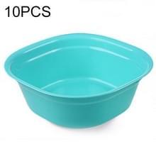 Huishoudelijke vierkante verdikking plastic wasbak keuken badkamer wastafel  grootte: 31cm x 31cm x 11cm (blauw)