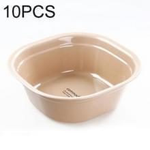 Huishoudelijke vierkante verdikking plastic wasbak keuken badkamer wastafel  grootte: 24.5 cm x 24.5 cm x 9cm (kaki)