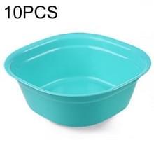 Huishoudelijke vierkante verdikking plastic wasbak keuken badkamer wastafel  grootte: 24.5 cm x 24.5 cm x 9cm (blauw)