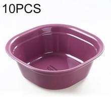 Huishoudelijke vierkante verdikking plastic wasbak keuken badkamer wastafel  grootte: 24.5 cm x 24.5 cm x 9cm (paars)