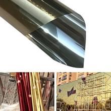 UV-reflecterende One Way privacy decoratie glas venster film sticker  breedte: 110cm  lengte: 1M (goud)