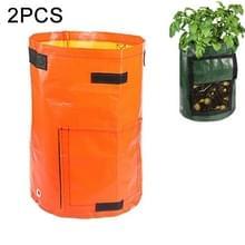 2 stuks 7 gallons aardappel planten PE zakken geweven stof zakken teelt tuin potten groente planten zakken groeien zakken boerderij tuin benodigdheden