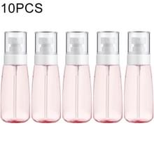 10 stuks Portable hervulbare plastic Fine mist parfum spray fles transparante lege spray sproeier fles  100ml (roze)