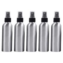 5 STKS hervulbare glas fijne mist verstuivers aluminium fles  150ml (zwart)