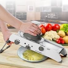 CZ-01 multifunctionele huishoudelijke RVS handmatige plantaardige snij Machine wortel aardappel Rasp (zilver)