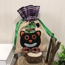 Zwarte kat patroon Halloween decoraties creatieve cartoon snoep geschenken Kids koord tote tas