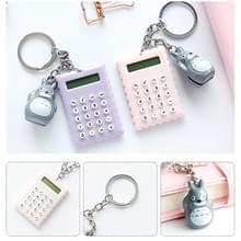 7522 draagbare Lovely Cartoon Mini uiterst dunne knop batterij Calculator  grootte: 5.3 * 3 8 cm