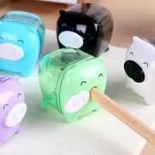 10 PC's Deli Mini varken handmatige potlood potloodslijpers Kids vriendelijke thuis kantoor School  willekeurige kleur levering