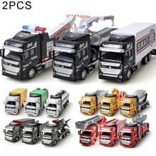 2 stk simulatie speelgoedauto 1:48 gelegeerd Engineering voertuig kinderen speelgoed willekeurige levering