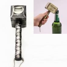 Hamer vorm creatieve magnetische bier wijn fles opener (zilver)