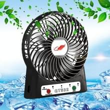 GONGTIAN GT532 Portable Multifuncional USB Rechargeable Fans  4 Ranges Speed Modes(Black)