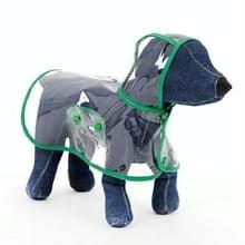 Waterdichte transparante huisdier regenjas regen slijtage Poncho  XS  harnas borst kledingmaat: 22cm  terug lengte: 18cm  huisdier gewicht: 1.5kg Below(Green)