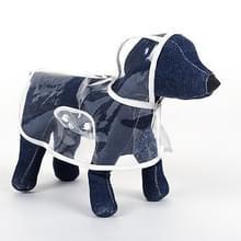Waterdichte transparante huisdier regenjas regen slijtage Poncho  XS  harnas borst kledingmaat: 22cm  terug lengte: 18cm  huisdier gewicht: 1.5kg Below(White)