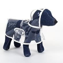 Waterdichte transparante huisdier regenjas regen slijtage Poncho  L  harnas borst kledingmaat: 40cm  terug lengte: 32cm  huisdier gewicht: 3.5-4.5kg(White)