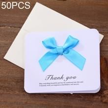 50 PC'S Festival creatieve universele bowknot wenskaarten met envelop (blauw)