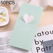 50 PCS Festival creatieve universele liefde hart wenskaarten (groen)