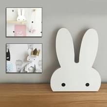 Creatief ontwerp houten konijn muur hanger haak voor thuiskantoor  Max belasting gewicht: 2kg (wit)