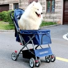 DODOPET outdoor schokbestendig draagbaar opvouwbare hond kat Huisdier trolley (blauw)