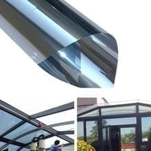 UV-reflecterende One Way privacy decoratie glas venster film sticker  breedte: 30cm  lengte: 1M (zilver)