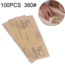 100 stuks Grit 360 natte en droge polijsten slijpen schuurpapier  formaat: 23 x 9cm(Yellow)