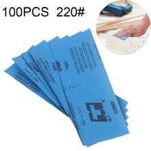 100 stuks Grit 220 natte en droge polijsten slijpen schuurpapier  formaat: 23 x 9cm (blauw)