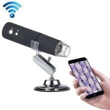 50 X ~ 1000 X Vergrootglas HD Image Sensor 1920x1080P USB WiFi digitale microscoop met 8 LED & professionele Stand (zwart)