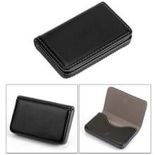 2 PC's Premium PU lederen visitekaartje draagtas met magnetische sluiting  grootte: 10*6.5*1.7cm(Black)