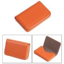 2 PC's Premium PU lederen visitekaartje draagtas met magnetische sluiting  grootte: 10*6.5*1.7cm(Orange)