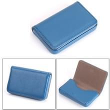 2 PC's Premium PU lederen visitekaartje draagtas met magnetische sluiting  grootte: 10*6.5*1.7cm(Blue)