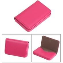 2 PC's Premium PU lederen visitekaartje draagtas met magnetische sluiting  grootte: 10*6.5*1.7cm(Magenta)