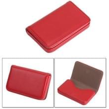 2 PC's Premium PU leder Business naam Card Case met magnetische sluiting  grootte: 10*6.5*1.7cm(Red)