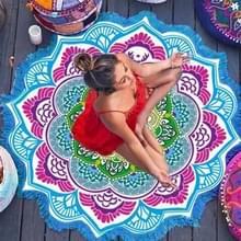 Microfiber kleurrijke gedrukte kwast Lotus zomer Bad handdoek zand strand handdoek omslagdoek sjaal  maat: 150 x 150cm(Blue+Magenta)