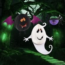 3 stuks / Set creatieve grappige Halloween Ghost vleermuizen Spider hanger papier decoratie en rekwisieten Horror