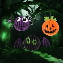 3 stuks / Set creatieve grappige Halloween pompoen vleermuizen Spider hanger papier decoratie en rekwisieten Horror