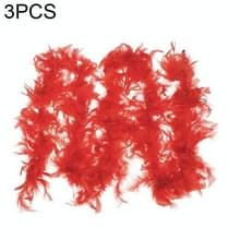 3 PC's prachtige decoratie veren kleding accessoires DIY brand Feather  elke lengte: ongeveer 1.8-2.0 m  elk gewicht: ongeveer 36-40 g  willekeurige kleur levering