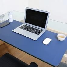 Multifunctionele Business dubbel zijdig PVC lederen muismat toetsenbord pad tabel mat computer bureau mat  grootte: 120 x 60cm (blauw + geel)