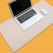 Multifunctionele Business PVC lederen muismat toetsenbord pad tabel mat computer bureau mat  grootte: 60 x 30cm (abrikoos)