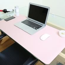 Multifunctionele Business PVC lederen muismat toetsenbord pad tabel mat computer bureau mat  grootte: 90 x 45cm (roze)