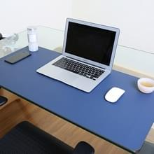 Multifunctionele Business PVC lederen muismat toetsenbord pad tabel mat computer bureau mat  grootte: 90 x 45cm (Sapphire Blue)