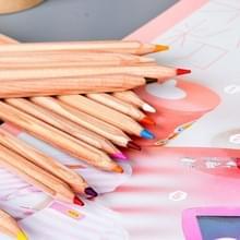 Kinderen volwassenen schets kleurboeken tekening van levendige kleuren 24-kleur houten kleurpotloden Set