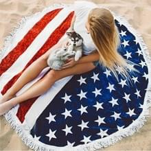 Amerikaanse vlag patroon kwast ronde zomer Bad handdoek zand strand handdoek omslagdoek sjaal  maat: 150 x 150cm