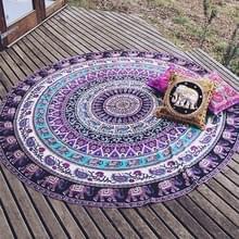 Gedrukte olifant en bloem patroon ronde zomer Bad handdoek zand strand handdoek omslagdoek sjaal  maat: 150 x 150cm