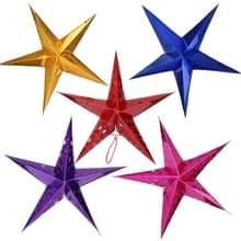 5 stuks 30cm diagonaal (volledige Extended) kerst decoratie 3D holografisch papier Pentagram  willekeurige kleur levering