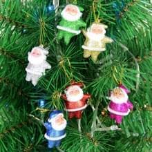 6 pc's Christmas Tree decoratie kleurrijke Santa Claus hangen Ornament met Nekkoord  willekeurige kleur levering